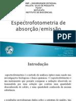 Espectrofotometria de emissão e absorção - Turma B - V Física Médica - Unesp (2009)