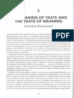 Korsmeyer, C. - Meaning and Taste còpia