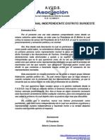 Declaraciones de La AAVV El Molino