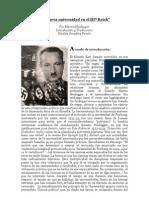 """""""La nueva Universidad en el IIIº Reich"""" (juni.30.1933) por Martin Heidegger Traducción y Estudio preliminar de Nicolás González Varela"""