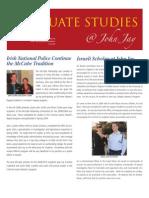 Graduate Studies Newsletter Fall 2009