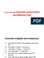 Estimating Concrete Material Fuller Method