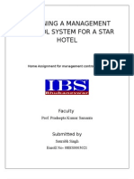 designing a management control system for a hotel