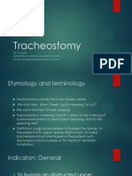 Tracheostomy Operating Technique