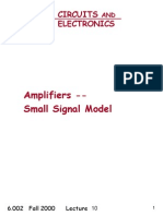 Amplifiers --Small Signal Model