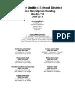 Santan JHS Course Catalog