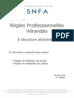 Regles Professionnelles Verandas 2009 01