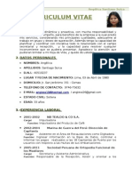 Curriculum Vitae - Angelica Santiago
