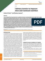 Exploitation of Dietary Tannins to Improve