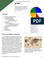 Major Religious Groups - Wikipedia, The Free Encyclopedia
