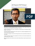 Tony Pua Dilantik Pengerusi DAP Selangor