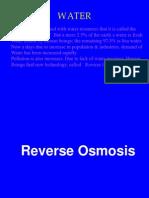 13733438 Presantation on Reverse Osmosis