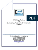 Weightage Factors for EPC Projects