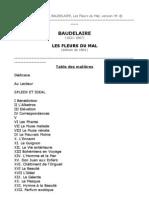 BAUDELAIRE - LES FLEURS DU MAL