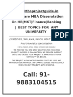 Mba Project Disseration Writing Kolkata