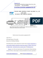 The Flow Chart of Tires Pyrolysis Equipment for 6T