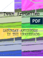 Ivan Arguelles - SATURDAY AFTERNOON IN THE UPANISHADS