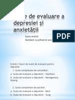 Scale de Evaluare a Depresiei