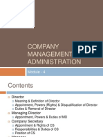 Module - 4 Company Management and Administration