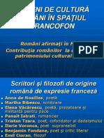 Oameni de Cultura Romani in Spatiul Francofon