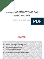 Semangat Patriotisme Dan Nasionalisme