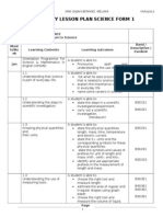PBS Yearly Lesson Plan for Form 1