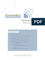 Common Grant Application
