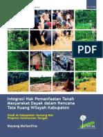 Integrasi Hak Pemanfaatan Tanah Masyarakat Dayak dalam Rencana Tata Ruang Wilayah Kabupaten. Studi di Kabupaten Gunung Mas Propinsi Kalimantan Tengah.