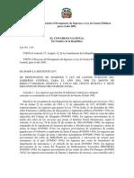 Ley No. 1-01 que aprueba el Presupuesto de Ingresos y Ley de Gastos Públicos para el año 2001