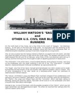 William Watson's Eagle and Other U.S. Civil War Blockade Runners