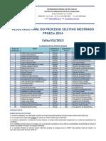 Resultado Final - Mestrado 2014 (1)
