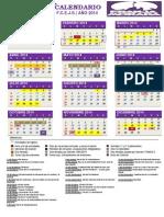 CALENDARIO FCEJS 2014