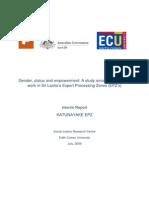 Gender Status Empowerment Interim Report
