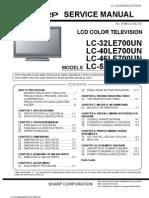 """Sharp lc32le700un 31. 5"""" lcd tv manual."""