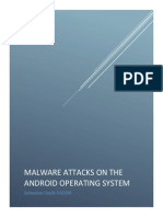 Malware Attacks on Android Systems