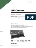 Sony XAV-W1 User Manual