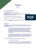 Luzon Brokerage Inc vs Maritime Building Co. Inc.