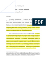 O Novo Institucionalismo e Os Estudos Legislativos Limongi e Fiqueiredo