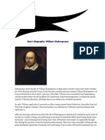Short Biography William Shakespeare