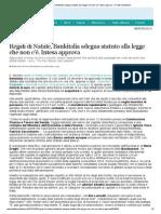 20131224 Regali di Natale, Bankitalia adegua statuto alla legge che non c'è