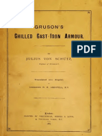 Gruson's chilled cast-iron armour -  Schütz (1887)