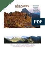 Machu Picchu-Peru's Lost Citadel
