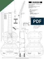 Genaro Fabricatore 1833 Guitar Plan