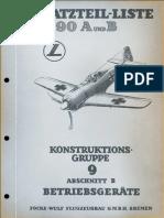 Fw 190 A1-A3 Cock Ersatz