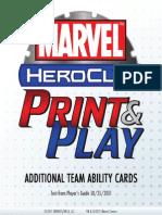 Heroclix - Additional Team Abilities - Marvel