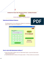 Find Determinant - High School Mathematics Software 2