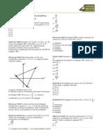 Exercicios Gabarito Geometria Analitica Ponto Reta