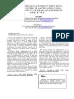 DISEÑO E IMPLEMENTACION DE UN ROBOT MOVIL AUTONOMO DOTADO DE MANIPULACIÓN, VISION ARTIFICIAL Y NAVEGACION PARA APLICACIONES EN AGRICULTURA