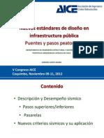 Nuevos estándares de diseño de infraestructura pública de Puentes y Pasarelas - Hernán Santa María (2012) PUC (PPT)