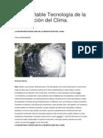 La Incontable Tecnologia de la Modificación del Clima
